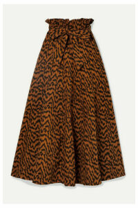Ulla Johnson - Esther Printed Denim Midi Skirt - Camel