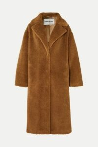 STAND - Maria Cocoon Oversized Faux Shearling Coat - Brown