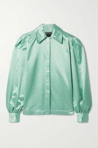 Burberry - Crystal-embellished Mulberry Silk-satin Shirt - Black
