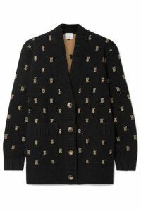 Burberry - Intarsia-knit Cardigan - Black