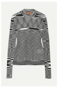Missoni - Striped Ribbed Crochet-knit Sweater - Black