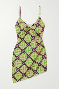 Anna Mason - Angelica Embroidered Swiss-dot Tulle Midi Dress - Burgundy