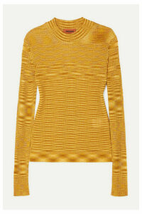 Missoni - Striped Ribbed Crochet-knit Sweater - Gold