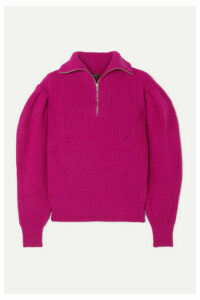 Isabel Marant - Kuma Pointelle-trimmed Ribbed Wool Sweater - Magenta