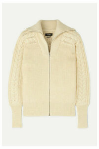 Isabel Marant - Lenz Cable-knit Alpaca And Wool-blend Cardigan - Ecru