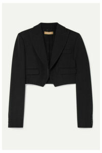 Michael Kors Collection - Cropped Wool-gabardine Blazer - Black