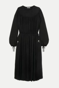 Ninety Percent - + Net Sustain Gathered Tencel Maxi Dress - Black