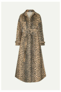 Jacquemus - Thika Belted Leopard-print Cotton-blend Trench Coat - Leopard print