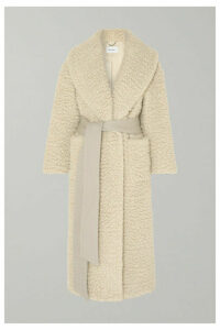 Salvatore Ferragamo - Belted Cashmere And Silk-blend Coat - Ivory