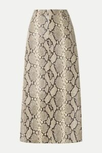 Alexander Wang - Snake-effect Leather Midi Skirt - Snake print
