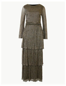 M&S Collection Textured Maxi Tiered Waisted Dress