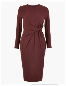 M&S Collection Twist Front Bodycon Midi Dress