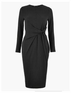 M&S Collection Twist Front Bodycon Midi Dress
