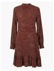 M&S Collection Polka Dot Relaxed Mini Dress