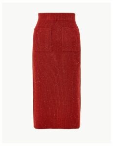Per Una Ribbed Knitted Midi Skirt