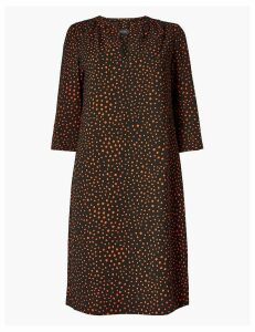 M&S Collection Polka Dot 3/4 Sleeve Shift Dress