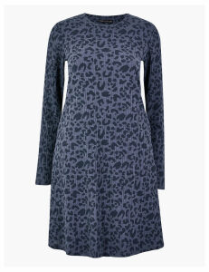 M&S Collection Animal Print Ribbed Swing Dress