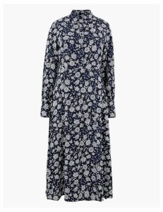 M&S Collection Floral Shirt Midi Dress