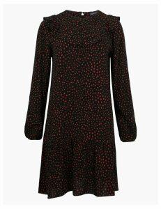 M&S Collection Polka Dot Bib Detail Relaxed Mini Dress