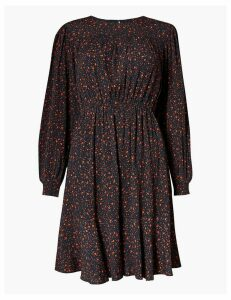 M&S Collection Ditsy Floral Print Waisted Mini Dress