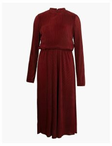 M&S Collection Plisse Waisted Midi Dress