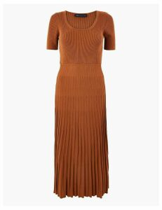 M&S Collection Knitted Fit & Flare Dress
