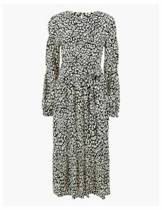 M&S Collection Animal Print Belted Waisted Midi Dress