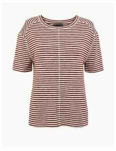 M&S Collection Striped Relaxed Fit Top