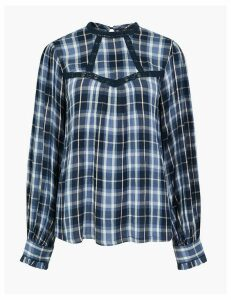 M&S Collection Checked Blouse