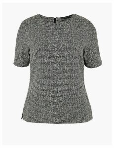 M&S Collection Textured Short Sleeve Top