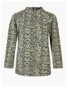 M&S Collection Animal Print 3/4 Sleeve Sweatshirt