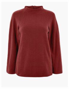 M&S Collection 3/4 Sleeve Sweatshirt