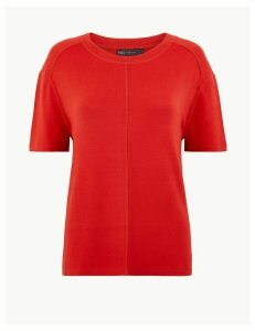 M&S Collection Round Neck Short Sleeve Top