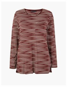 M&S Collection Striped Longline Long Sleeve Top