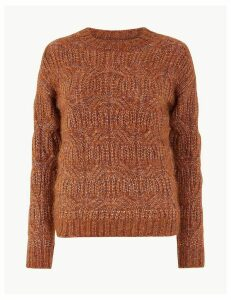 Per Una Cable Knit Relaxed Fit Jumper