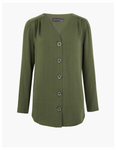 M&S Collection Button Detailed Longline Tunic
