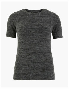 M&S Collection Fitted Short Sleeve Top