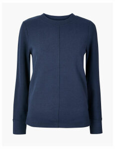 M&S Collection Cotton Blend Sweatshirt
