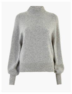 Autograph Wool Rich Turtle Neck Jumper with Cashmere