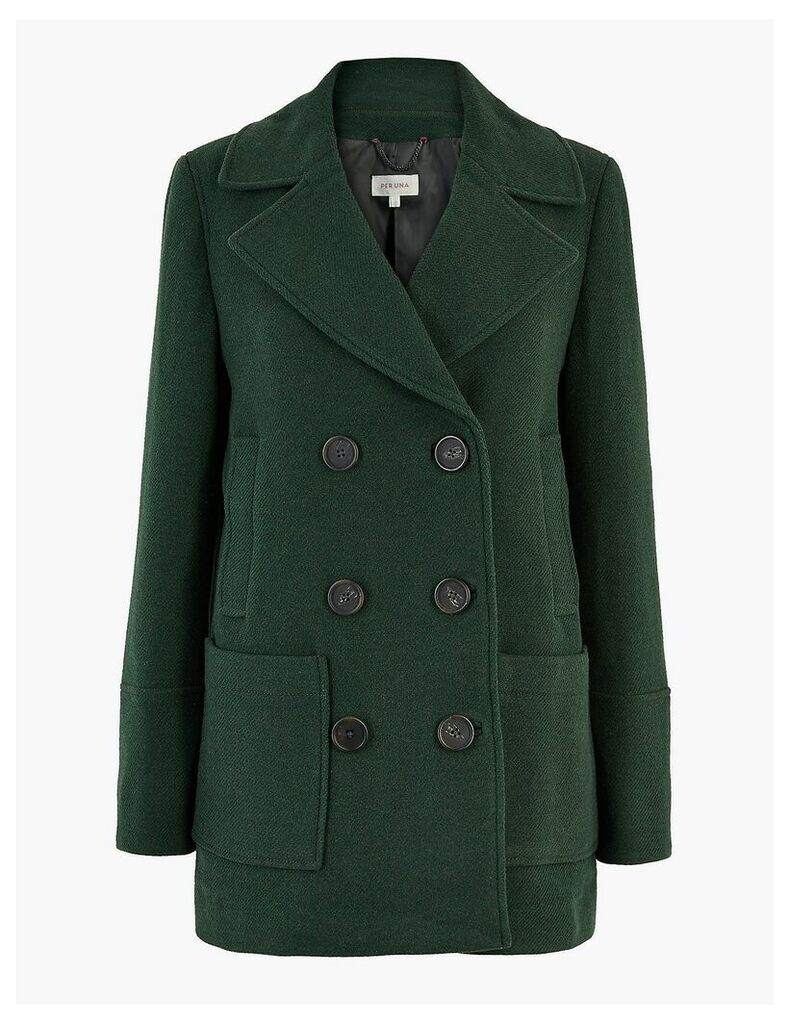 Per Una Wool Rich Double Breasted Peacoat