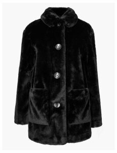 M&S Collection Faux Fur Coat