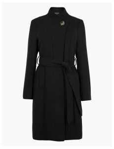 M&S Collection PETITE Belted Wrap Coat