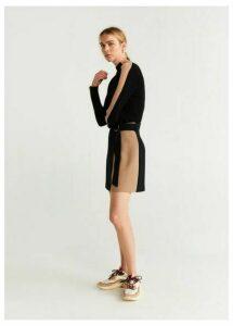 Buckle detail miniskirt