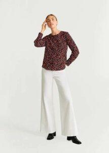 Geometric-print blouse