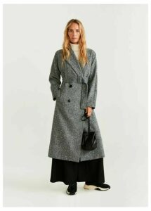 Textured long coat