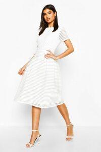 Womens Boutique Full Skirted Prom Midi Dress - white - 16, White