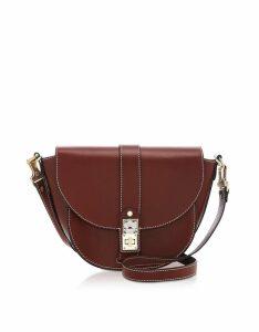 Proenza Schouler Designer Handbags, PS11 Medium Russet Leather Saddle Bag