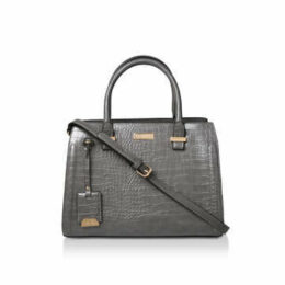 Carvela Holly Croc Zip Bag - Grey Croc Effect Tote Bag