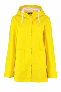 Womens PU Coated Rain Mac - yellow - 16, Yellow