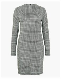 M&S Collection Jacquard Checked Shift Dress